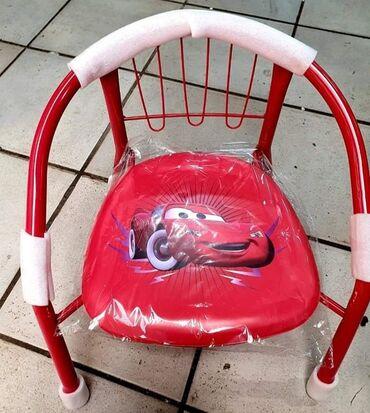 Nameštaj - Vladicin Han: Dečija metalna stolica CARS izuzetnog kvaliteta. Dostupna u više