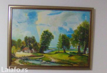 Ulje na platnu 70x80 cm uramljeno, boju rama birate (od ponudjen dve)_ - Smederevo