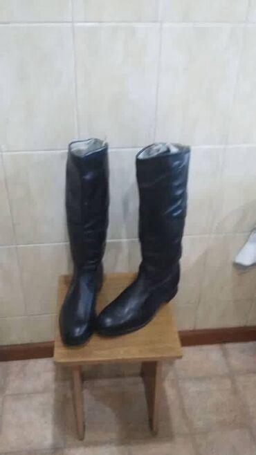 Продаю новые яловые сапоги,производства СССР(100% кожа)размер 42