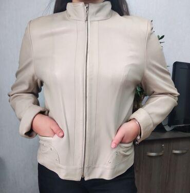 Куртки - Бежевый - Бишкек: Классика, кожа отделана камнями Сваровски