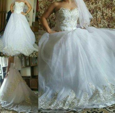 Sumqayıt şəhərində свадебное платье с фатой,  с подюбником-кольцом