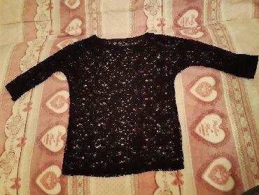 Style-majica-leptir-rukavi-crna-marka - Srbija: Rupičasta crna majica, veličina M