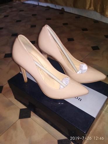 замшевые туфли бежевого цвета в Кыргызстан: Продаю туфли размер 35,цвет бежевыйцена 1300,обсолютно новая.
