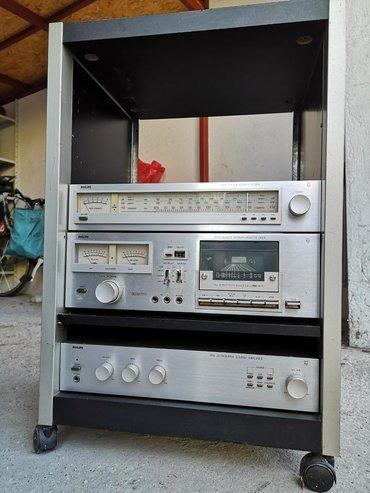 Philips xenium x128 - Srbija: Philips muzički stub koji čine - kaset dek, tuner pojačalo i vitrina