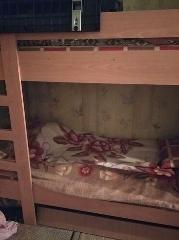 слезы на подушке 3 в Кыргызстан: Продам двухъярусная кроватьв хорошем состоянии,с матрасом и