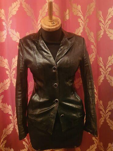 Пиджак лакированная натуральная кожа. Весна-осень. Брали в России за