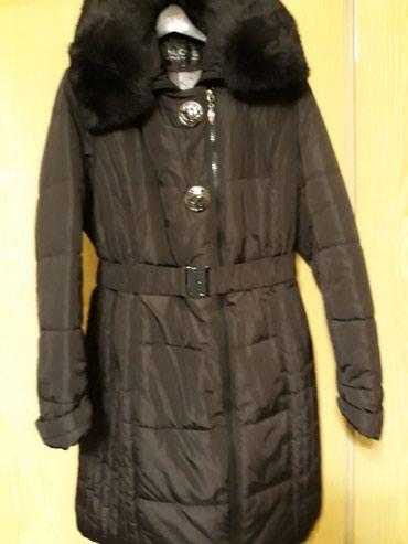 Пальто с капюшоном зимнее,очень теплое р52 в Бишкек