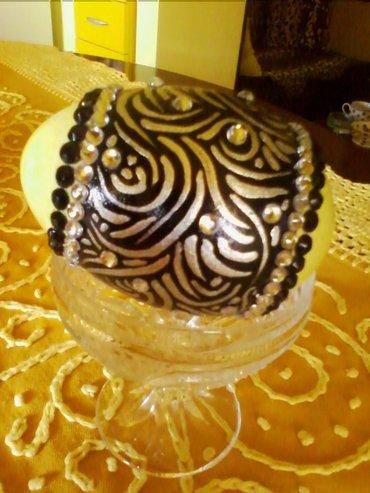 Uskrsnja jaja. Radjena cirkonima,perlama i srebrnom bojom. Velika gusc - Paracin