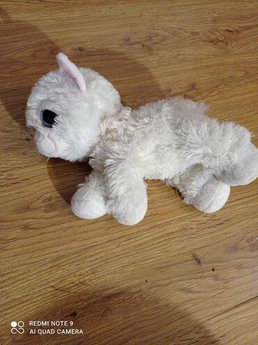 Белый котенок Мягкая игрушка