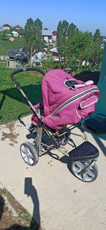 Детский мир - Кара-Суу: Продам коляску в г.Ош. 3в одном, люлька и детское автокресло. Состояни