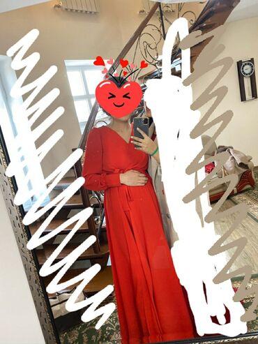 красное платье в пол в Кыргызстан: Продаю красное платье до пола Надевала 1 раз Размер 44-46