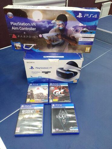 Видеоигры и приставки в Кыргызстан: Продаю Playstation VR и Aim контролёр с 4-я дисками, всё в идеальном