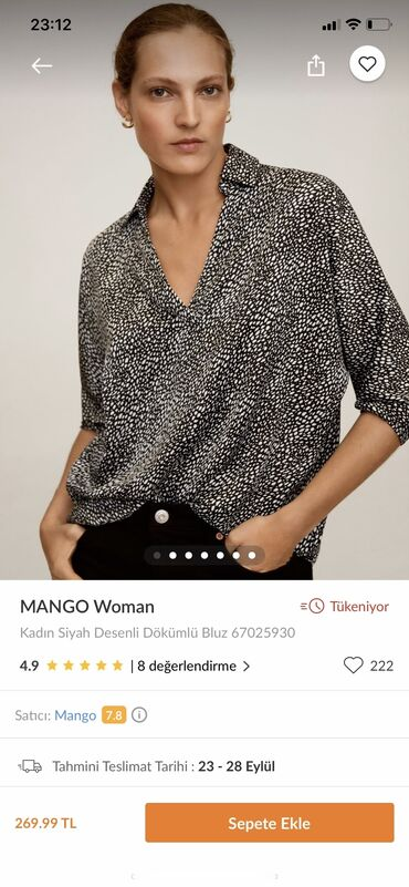 Hazirda Mangoda 62 manatdi satilir 35 e yenidir etiket uzerinde xl
