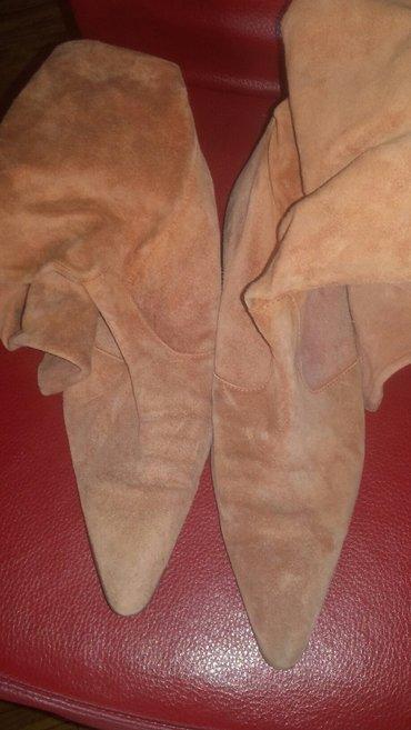 Roze kozne čizme za suvo vreme, nošene ali nisu nigde pocepane, broj - Zrenjanin