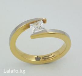 """Титановые кольцо с цирконом, модель""""etoile"""" в Бишкек"""