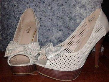 Krem lakovane cipele u odličnom stanju. Nošene jednom. Broj 36 - Belgrade