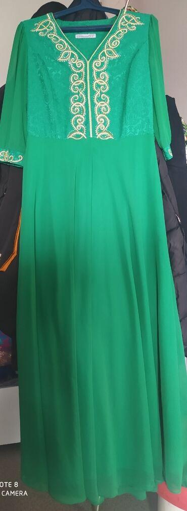 Личные вещи - Боконбаево: Продаётся вечерные платье национальном стиле. Покупали за 9000тысяч