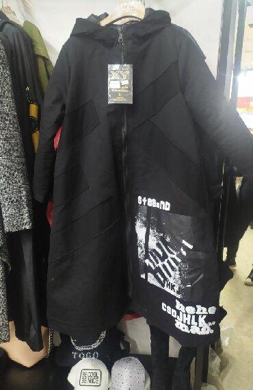 узбекские платья со штанами фасоны в Кыргызстан: Почти новый стильный куртка корейский стиль свободный фасон подойдёт M