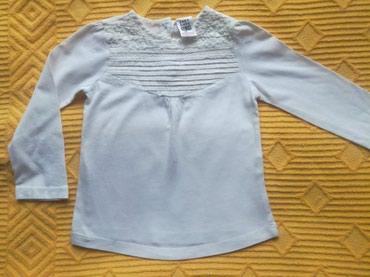Zara bluza sa čipkom i karnerićima.Veličina 18-24 meseca.Boja bela - Belgrade
