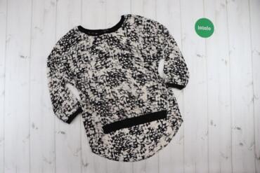 Женская одежда - Украина: Жіноча чорно-біла блуза Reserved, р. XS   Довжина: 66 см Ширина плеча