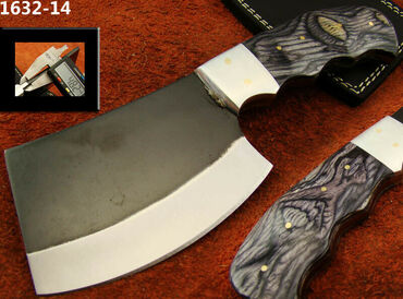 ALISTAR HANDMADE HIGH CARBON STEEL BUTCHERS MEAT CLEAVER KNIFE NEWHand