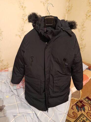 Куртка на самую суровую зиму с мехом для подростка новая размер не