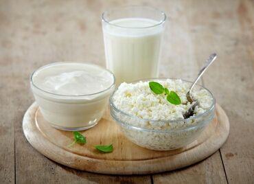 Молочные продукты и яйца - Кыргызстан: Продаю домашнюю сметану творог айран молоко