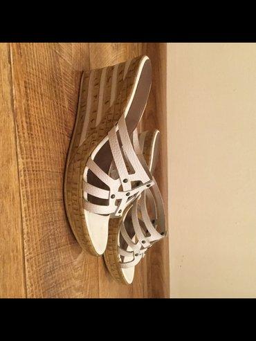 Продаю белые кожаные тапочки (Германия). размер 41. в Бишкек