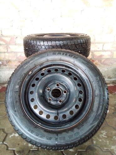 спортивные диски в Кыргызстан: 1) Шины ЗИМА. С железными дисками Sailun Ice Blazer 215 60 16