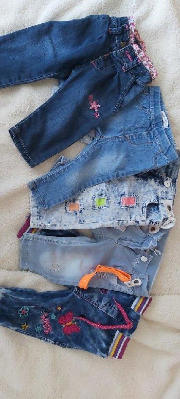 Dečija odeća i obuća - Zabalj: Farkice za devojcicu,velicine sa leva na desno 6-9 meseci,18