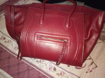 сумка-в-багажник в Кыргызстан: Сумка селин оригинал 100% кожа цвет бордовый только вац или звоните