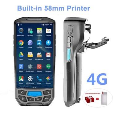 2-ci-əl-telefonlar - Azərbaycan: 2 ədəd 1 quraşdırılmış 58mm istilik printer 4G əl pos terminalı 1D /