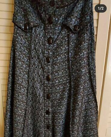 Svileni suknja - Srbija: Suknja za punije dame od svilenog stofa.Poluobim struka 50 cm.Kukovi