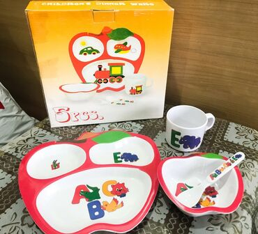 Детский набор посуды в подарочном виде. Совсем новые, не использовали