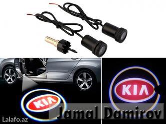 Bakı şəhərində Lazer Proyektoru KIA . Лазерный проектор KIA . Laser logo KİA.