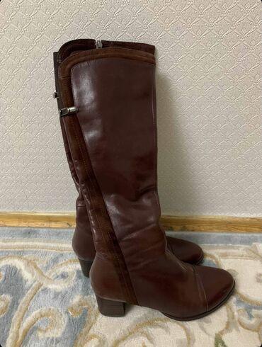 Продаю кожаные сапоги деми, Турция, 37р, состояние очень хорошая, цвет
