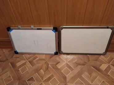 Доски стеклянная магнитно маркерная маленькие - Кыргызстан: Продаю бу качественные маркерные доски. Состояние отлчиное. Производст