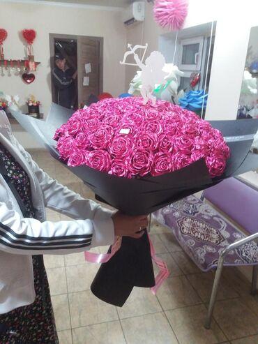101 роза из крэп бумаги
