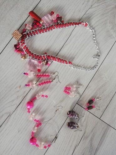Roze set nakita, ogrlica i mindjuse - Sjenica