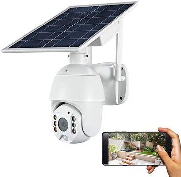 Günəş paneli ilı işləyən PTZ müşahidə kamerası. Wifi və 4g(sim kart)mo