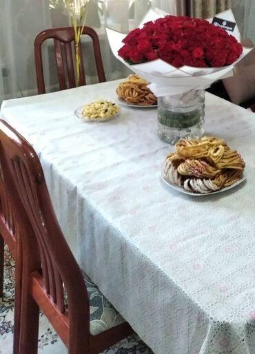 видеокарты бу купить в Кыргызстан: Продаю стол со 4 стульями в отличном состоянии . Размер стола Длина