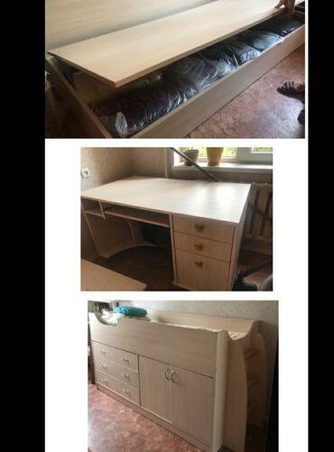 компьютеры за 5000 в Кыргызстан: Продается мебель: кровать, компьютерный стол, кровать со шкафом и