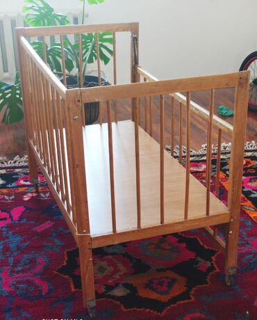 бу детские кроватки в Кыргызстан: Продаю прочную детскую кроватку советского качества в отличном