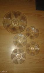 Stakleni veliki tanjir i četiri mala - Kula