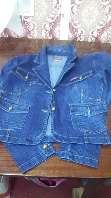 синий пиджак женский в Кыргызстан: Новый женский джинсовый пиджак