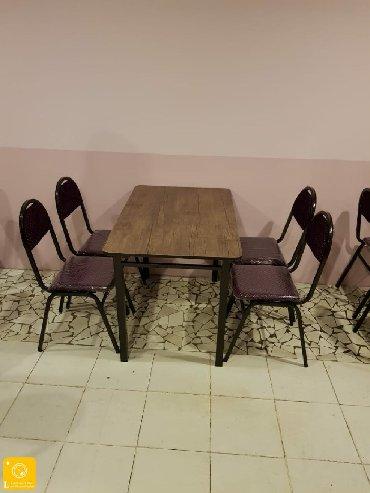 kafe ucun stol stul - Azərbaycan: Demir stol stul destQalin profilden stolun ustu laminatdanMetbex ucun