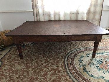 столы в упаковке в Кыргызстан: Деревянный стол (жер стол), добротный, тяжелый 110х140
