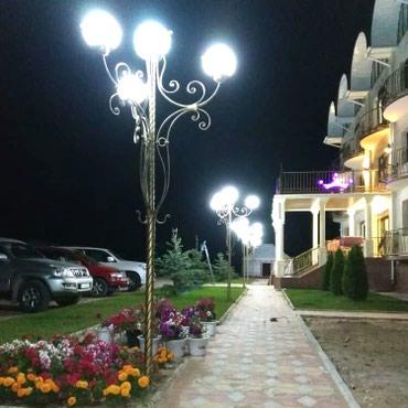 Кованый фонарь на 4 плафона. Осветит и в Балыкчи