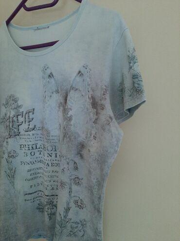 Majica sa cirkonima botanica. Vel M.  Nezno plave boje