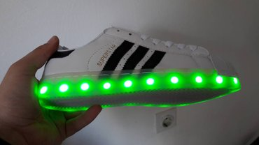 54b5d5758f8 Adidas Superstar Belo-Crne NOVO Svetlece Patike!Br. 36-41! Patike ...